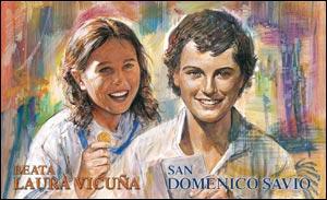 San Domenico Savio e Laura Vicuña. Immaginetta