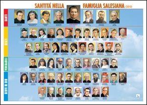 Santità nella famiglia salesiana. Poster
