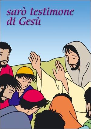 Sarò testimone di Gesù. Cartoncino